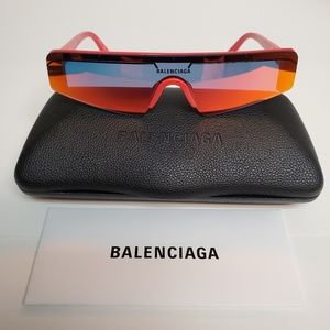 Balenciaga Extreme BB0003S-004 Red Mirror